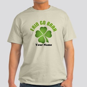 Personalized Erin Go Brah Clover Light T-Shirt
