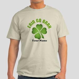 Personalized Erin Go Brah Clover Light T-Shirt