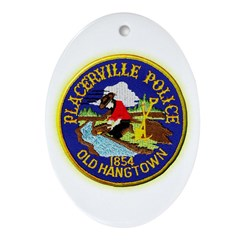 Placerville Police Ornament (Oval)