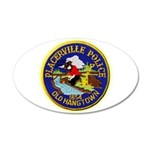 Placerville Police 20x12 Oval Wall Decal