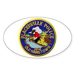 Placerville Police Sticker (Oval 10 pk)