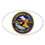 Placerville Police Sticker (Oval 10 pk)