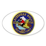 Placerville Police Sticker (Oval)