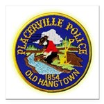 Placerville Police Square Car Magnet 3