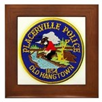 Placerville Police Framed Tile