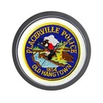 Placerville Police Wall Clock