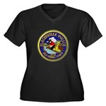 Placerville Police Women's Plus Size V-Neck Dark T