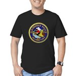 Placerville Police Men's Fitted T-Shirt (dark)