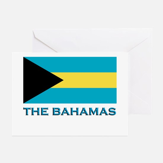 The Bahamas Flag Gear Greeting Cards (Pk of 10