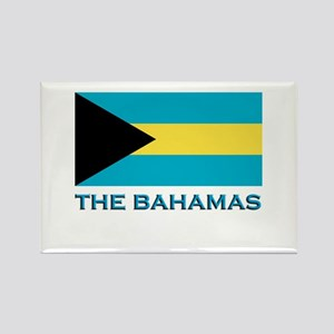 The Bahamas Flag Gear Rectangle Magnet