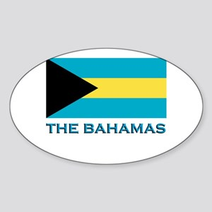 The Bahamas Flag Gear Oval Sticker
