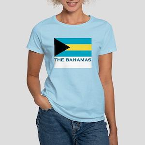 The Bahamas Flag Gear Women's Pink T-Shirt