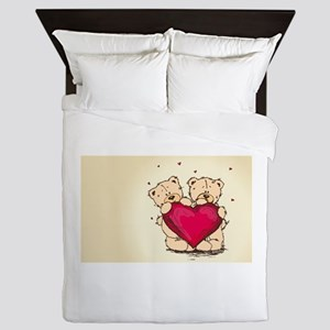 teddybear love Queen Duvet