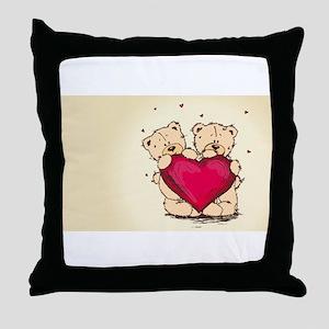 teddybear love Throw Pillow