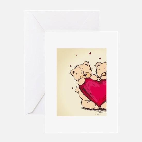 teddybear love Greeting Card