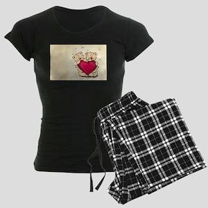 teddybear love Women's Dark Pajamas