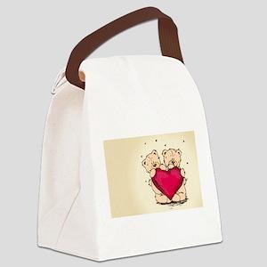 teddybear love Canvas Lunch Bag
