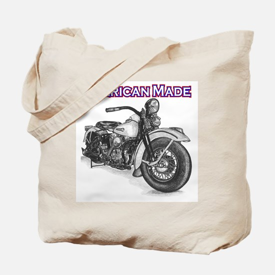 Harley Davidson Knucklehead 1947 right Tote Bag
