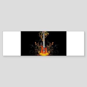 guitar abstract Sticker (Bumper)