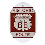 San Bernardino Route 66 Ornament (Oval)