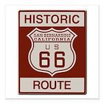 San Bernardino Route 66 Square Car Magnet 3