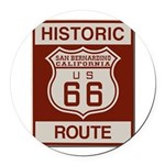 San Bernardino Route 66 Round Car Magnet