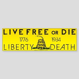 Live Free or Die Gadsen Bumper Sticker