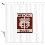 San Bernardino Route 66 Shower Curtain