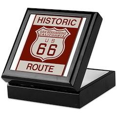 San Bernardino Route 66 Keepsake Box