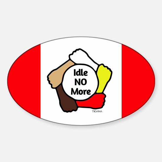 Idle No More - Five Hands - Canadian Flag Decal