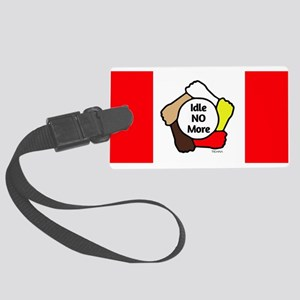 Idle No More - Five Hands - Canadian Flag Large Lu