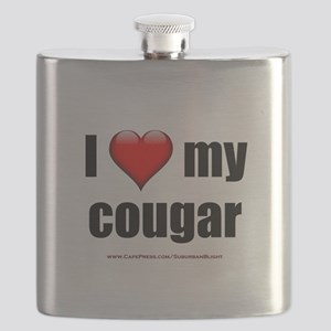 """""""I Love My Cougar"""" Flask"""