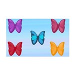 Butterflies in the Sky 35x21 Wall Decal
