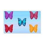 Butterflies in the Sky 20x12 Wall Decal