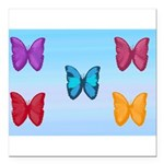 Butterflies in the Sky Square Car Magnet 3