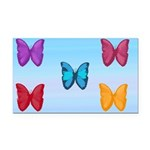 Butterflies in the Sky Rectangle Car Magnet