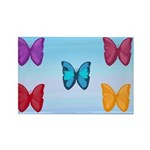 Butterflies in the Sky Rectangle Magnet (10 pack)
