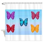 Butterflies in the Sky Shower Curtain