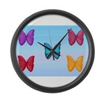 Butterflies in the Sky Large Wall Clock