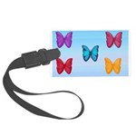 Butterflies in the Sky Large Luggage Tag