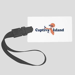 Captiva Island - Map Design. Large Luggage Tag