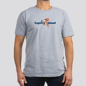 Captiva Island - Map Design. Men's Fitted T-Shirt