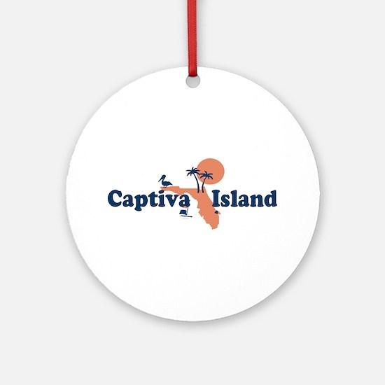 Captiva Island - Map Design. Ornament (Round)