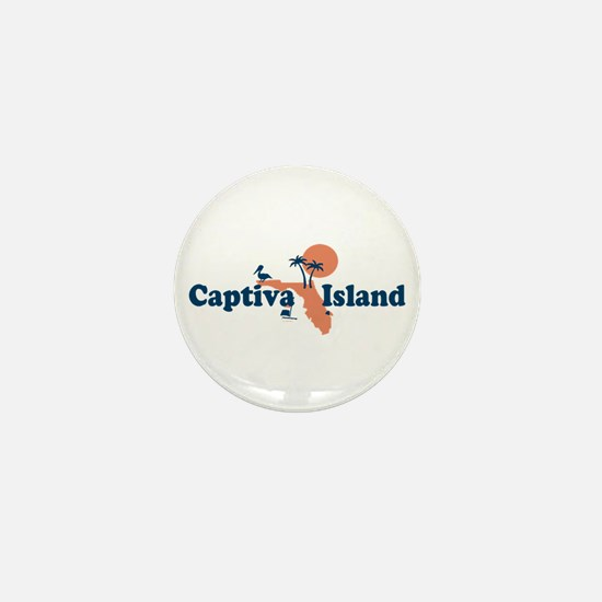 Captiva Island - Map Design. Mini Button
