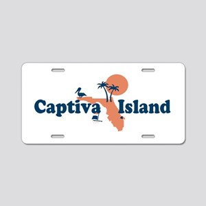 Captiva Island - Map Design. Aluminum License Plat