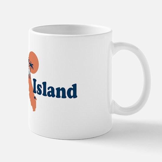 Captiva Island - Map Design. Mug