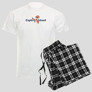 Captiva Island - Map Design. Men's Light Pajamas