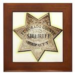 El Dorado County Sheriff Framed Tile
