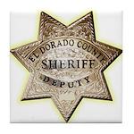 El Dorado County Sheriff Tile Coaster
