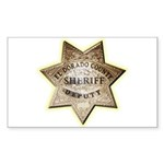 El Dorado County Sheriff Sticker (Rectangle 50 pk)